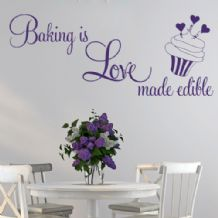 Baking is Love Made Edible ~ Wall sticker / decals